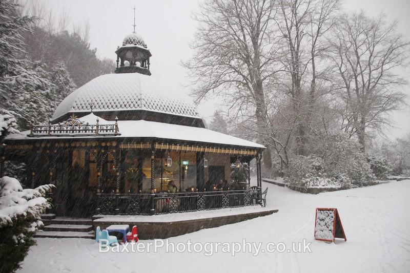 Magnesia Well Cafe in Snow - The Valley Gardens (Harrogate)