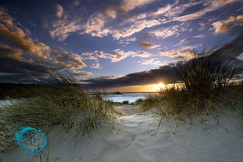 Through The Dunes - Seascapes