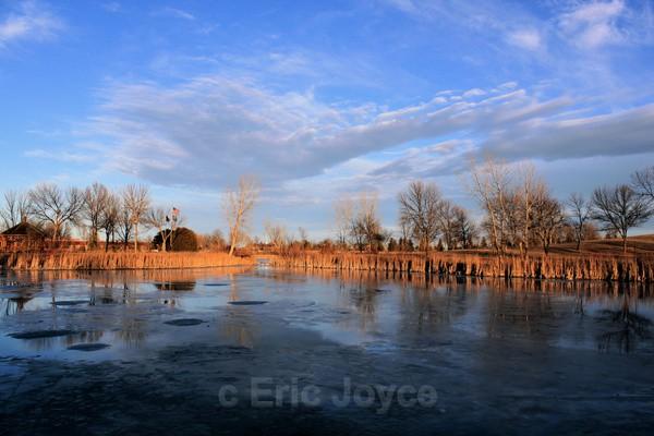 Blue skies & Blue ice - Marshall, Minnesota
