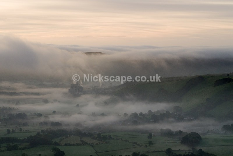 Cement Works in the Hope Valley from Mam Tor | Peak District Photography Gallery