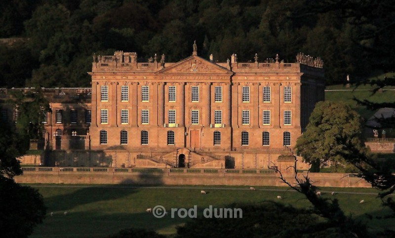 Chatsworth House in the evening - Peak District