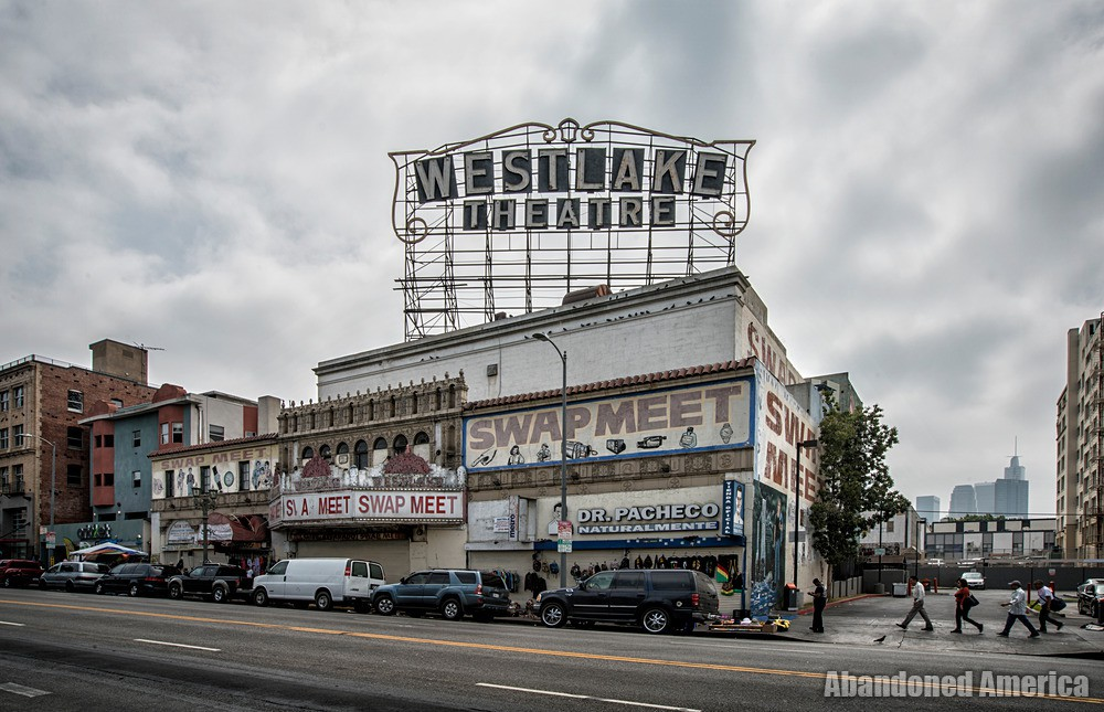 Exterior View at The Westlake Theatre, Los Angeles, CA   Abandoned America