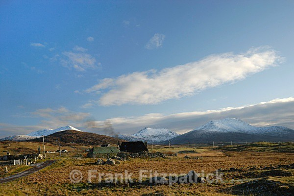 Howmore township, Island of South Uist, Outer Hebrides. - Island of South Uist in the Outer Hebrides