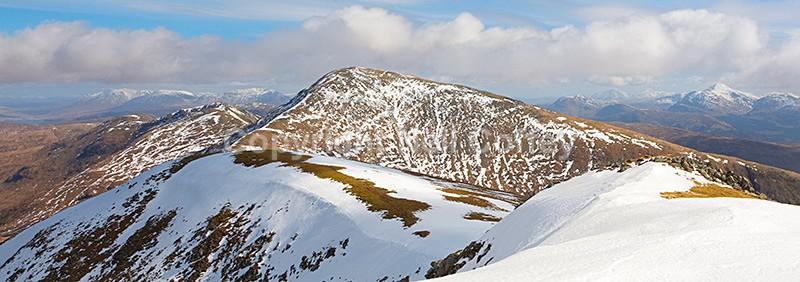 Beinn Eunaich from Beinn a Chochuill, Argyll & Bute - Panoramic format