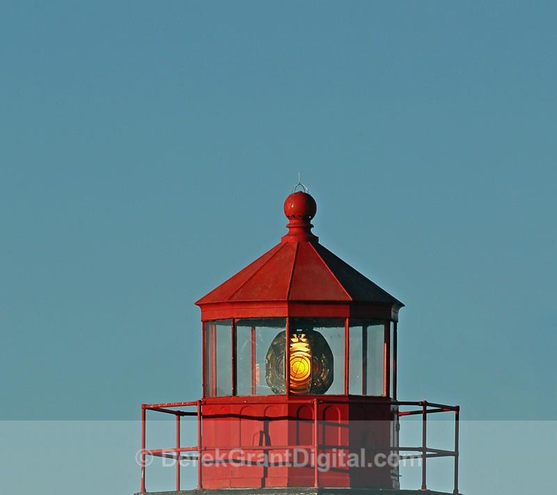Historic Lantern and Lens - Lighthouses of New Brunswick