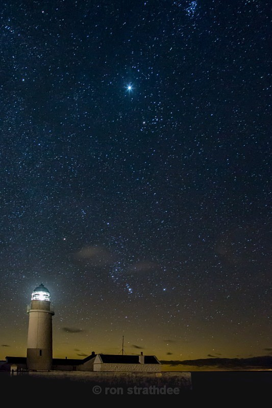 Star of Wonder at Langness Lighthouse - Skies of Man