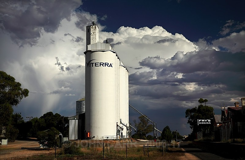 Viterra Silos at Eudunda-0091 - STORM/CLOUD CHASE PHOTOS 23/1/2012