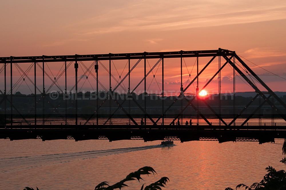 Walnut Street Bridge Sunset - Harrisburg Area, Pennsylvania
