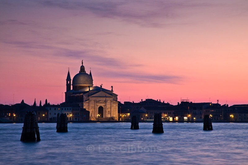 Redentore at sunset - Venice