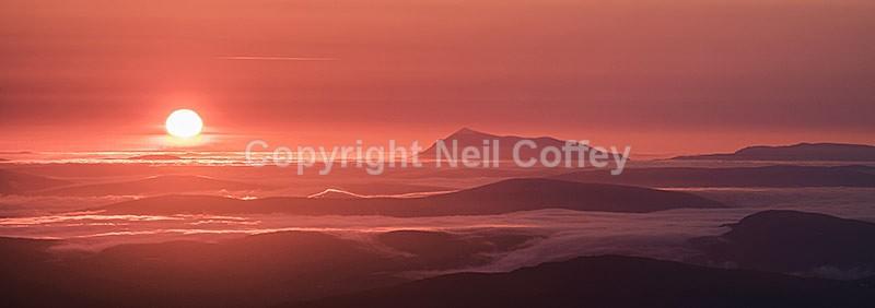 Ben Kilbreck from An Teallach, Wester Ross, Highland - Panoramic format