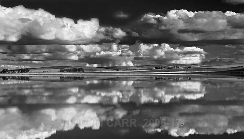 Porter Lagoon Reflections-1 in Mono - WATER - SALT OR FRESH PHOTOS