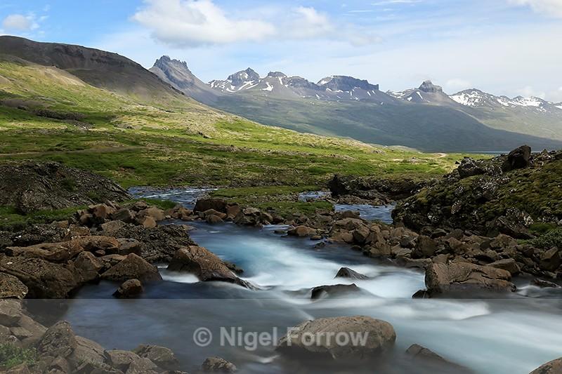 View from Folaldafoss towards Berufjordur, Iceland - Iceland