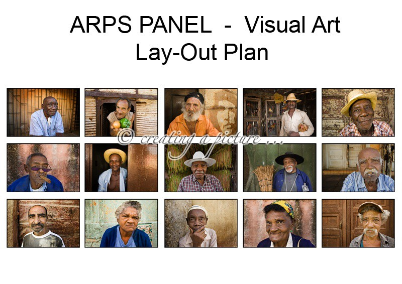 Lay-Out Plan - Associateship of The Royal Photographic Society of Great Britain - ARPS
