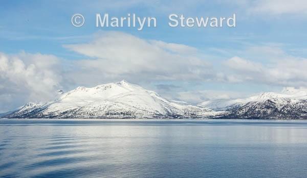 Snowy hills - Norway Coast