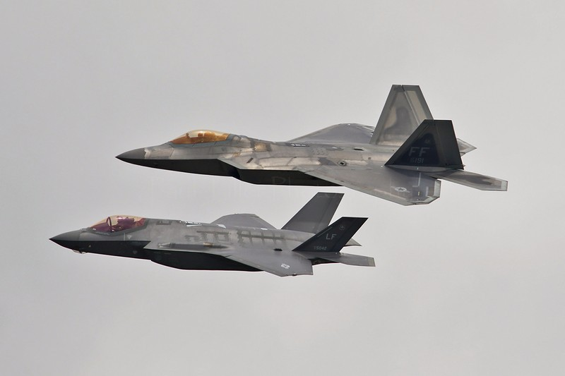 F-22A Raptor and F-35A Lightning II, US Air Force - Aviation