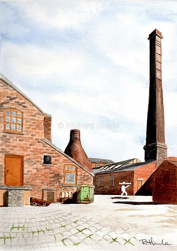 The Potbank Yard - Watercolour Paintings