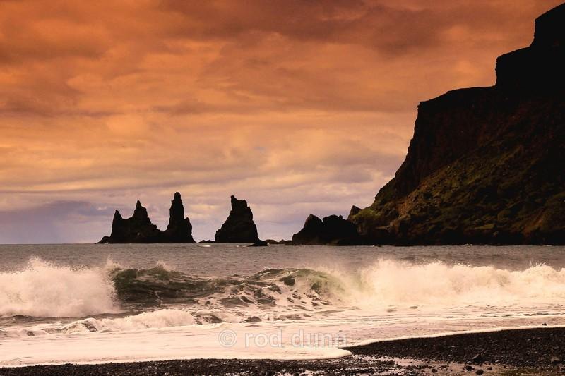 Reynisdranger sunset - Iceland