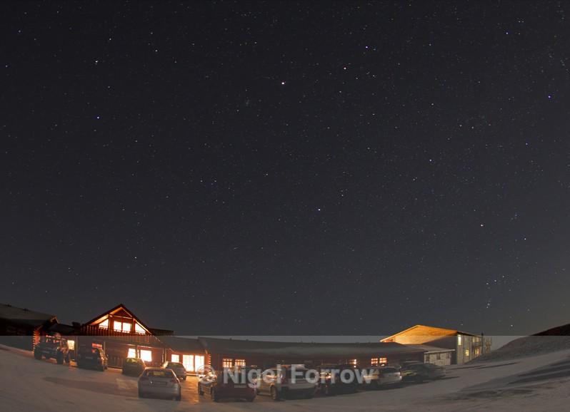 Night sky at the Hotel Rangá - Iceland