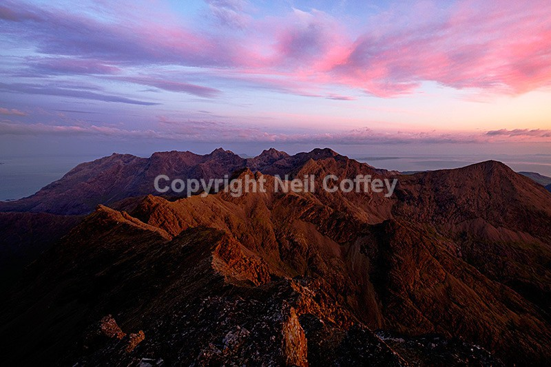The Black Cuillin ridge from Bruach na Frithe, Isle of Skye - Landscape format