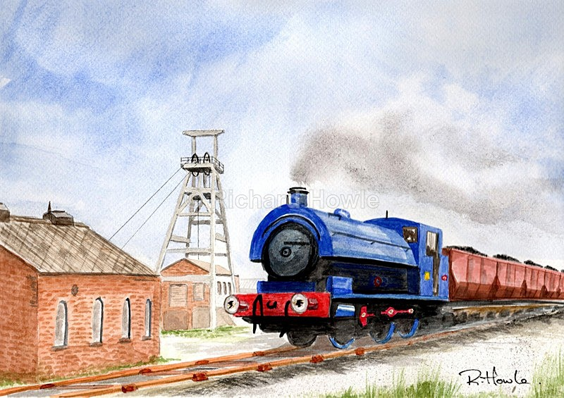 Foxfield Colliery - Watercolour Paintings