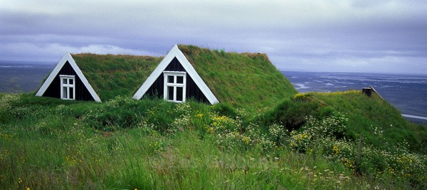 Traditional Icelandic dwelling - South and Central highlands