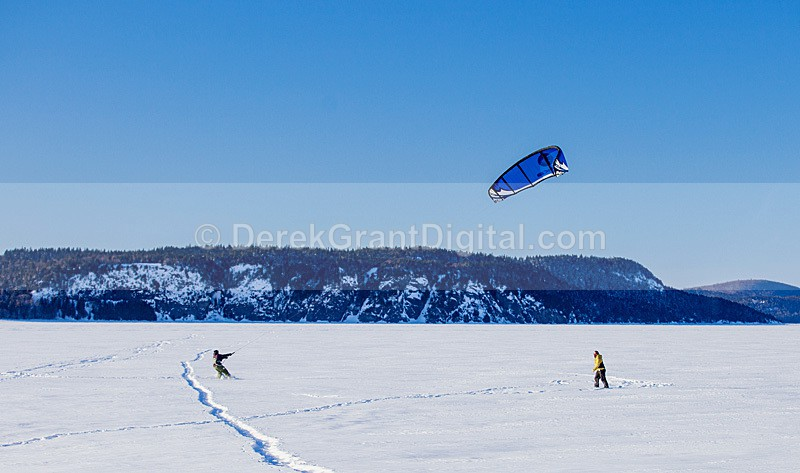 Snowkiting on the Kennebecasis River - Sport & Recreation