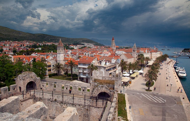 Rain Clouds over Trogir - Croatia Road Trip 2017