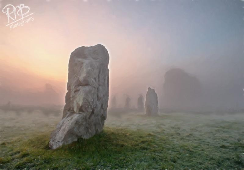 Avebury Mist - Digital Paintings