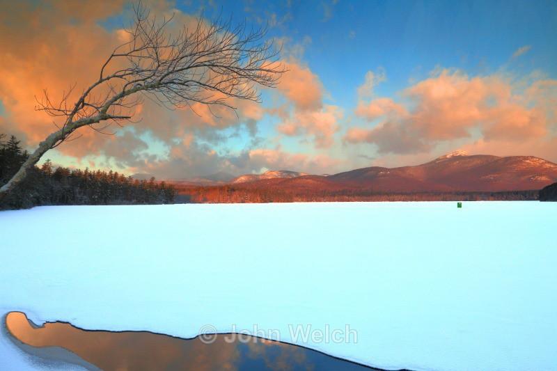 Chocorua Lake Sunrise Jan 1 2014 - White Mountain National Forest and Northern New Hampshire