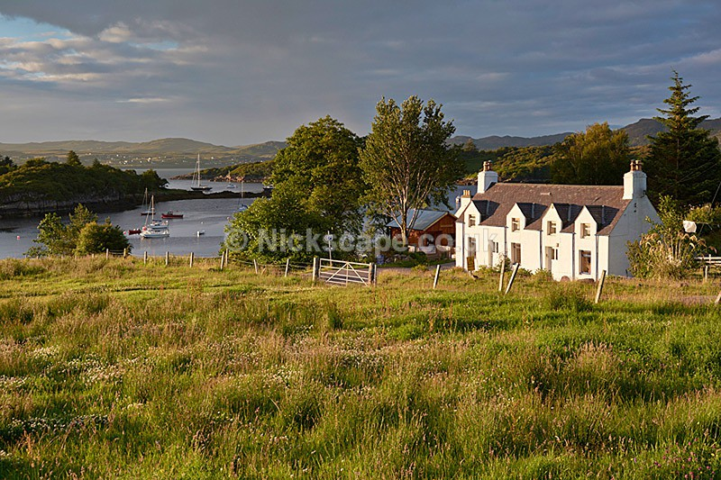 Badachro Village - Loch Gairloch - Scottish Highlands - Scotland