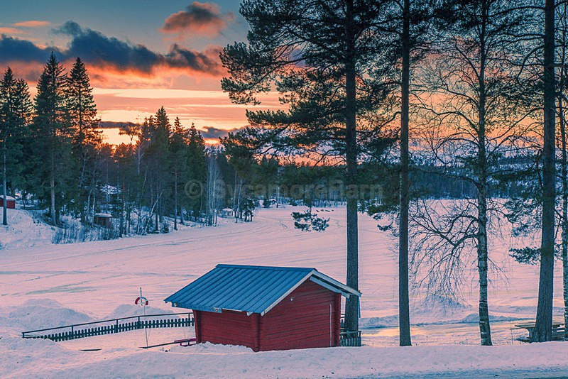 Cabin sunset, North Sweden - Dawn to Dusk Gallery