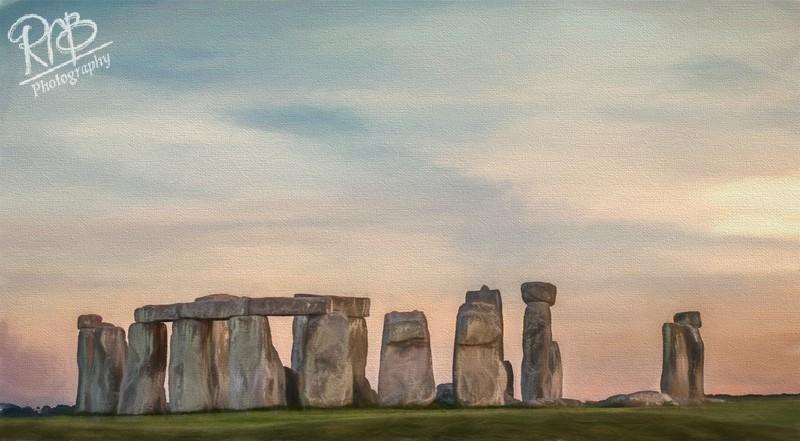 Stonehenge Watercolour - Digital Paintings