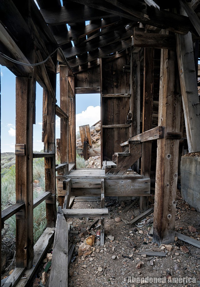 Chemung Mine (Masonic, CA) | Wooden Steps - Chemung Mine