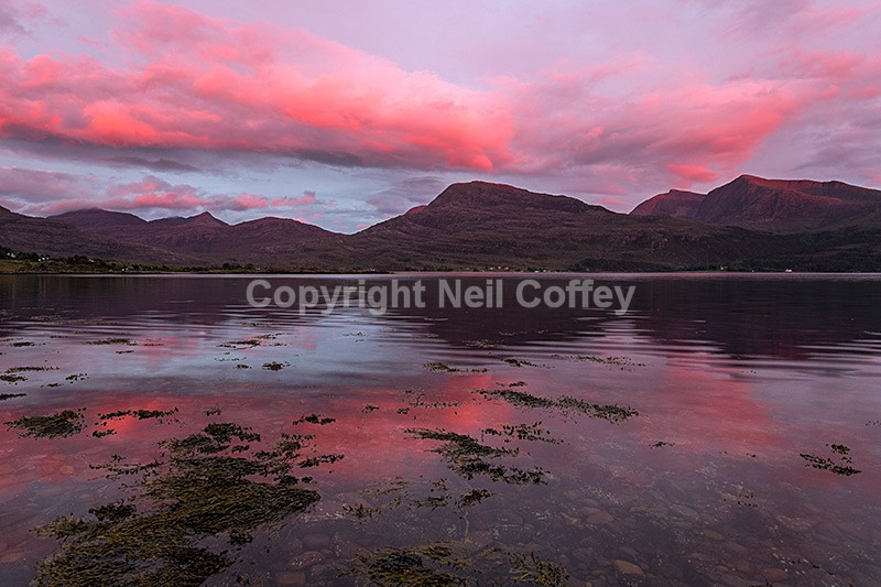 Upper Loch Torridon sunset, Highland2 - Landscape format