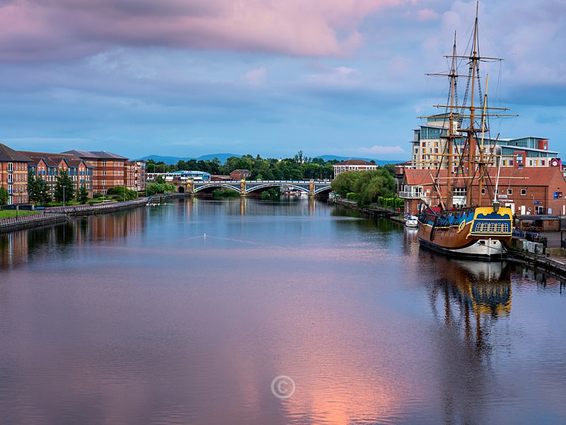 The Endeavour on the Tees - North-East England