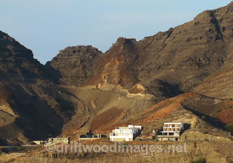 Cape Verde Islands hills surrounding town - Cape Verde Islands