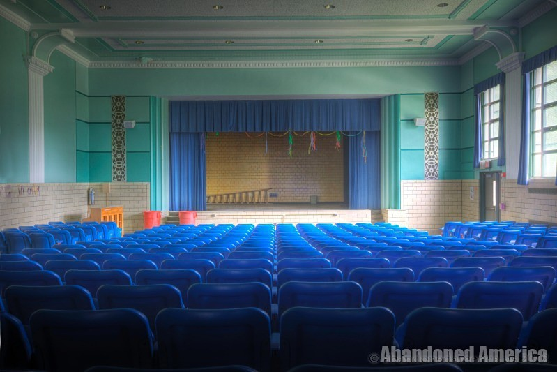 Abandoned School Auditorium - Matthew Christopher's Abandoned America