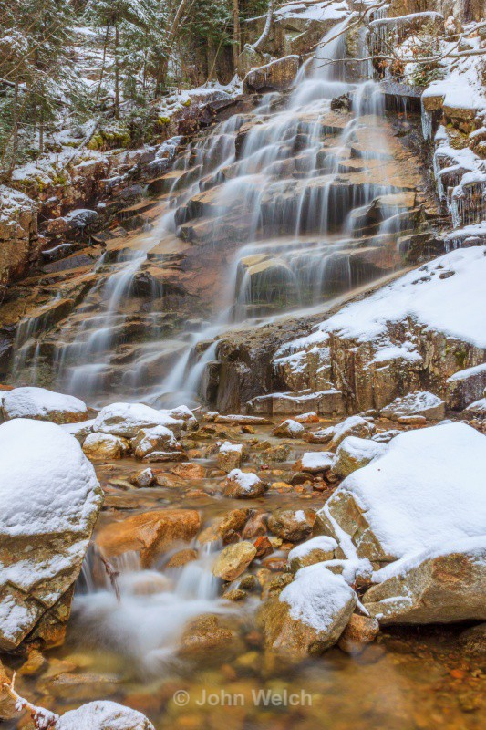 Winter Arrives at Cloudland Falls II - Fall Foliage Season Transitions