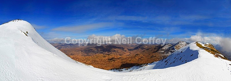 Glen Kinglass from the Cruachan Hills, Argyll & Bute - Panoramic format
