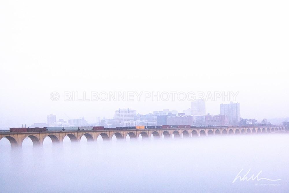 Railroad Bridge Fog - Harrisburg Area, Pennsylvania