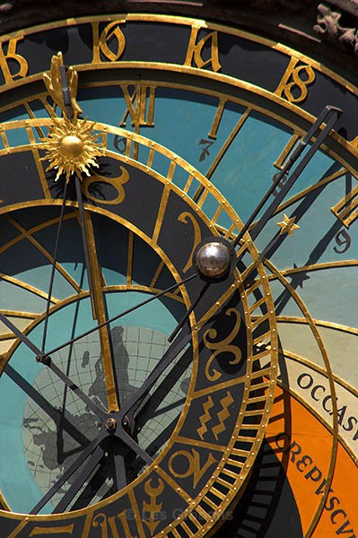 Astronomical clock - close up - Prague
