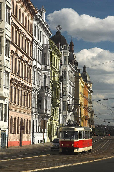 Traditional buildings and Tram - Prague